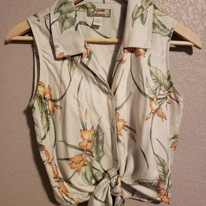 Tommy Bahama Tops - Tommy Bahama tie up blouse